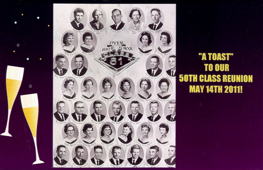 The 1961 Graduating class picture