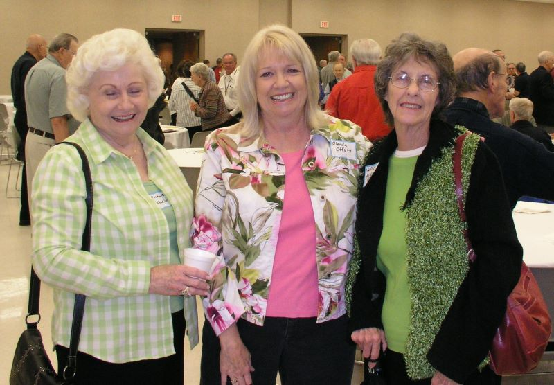 Frances Wheeler, Glenda Offutt and Hazel Perry