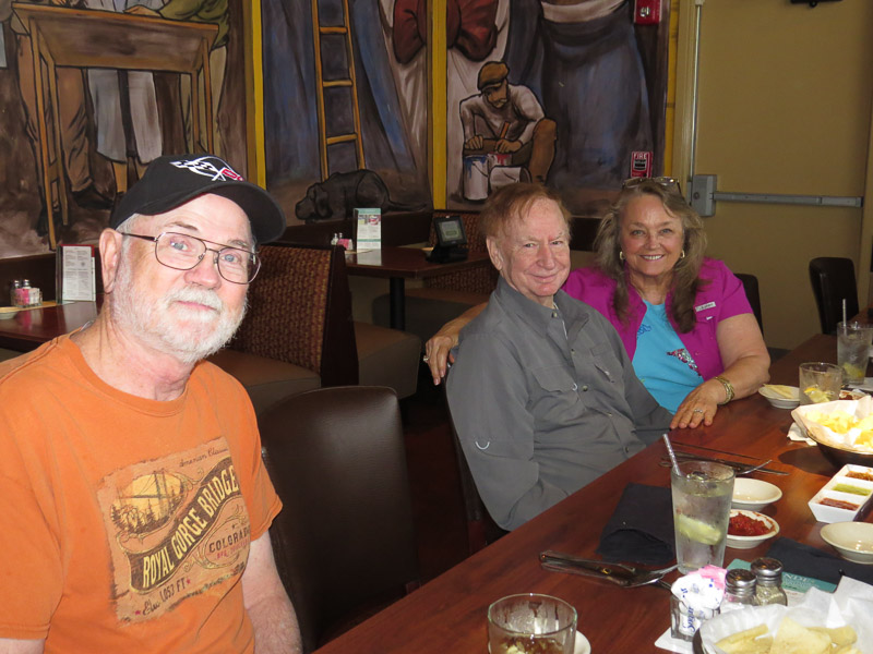L-R: Marvin Howard, Jim and Connie Wallner.