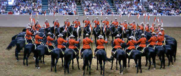 We took in the RCMP Musical Ride for the umpteenth time.