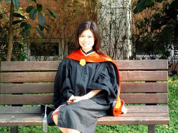 Yi Jen just got her Masters Degree