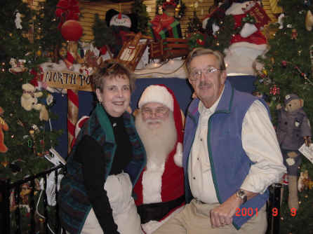 Marilyn and Bill Harrison hit it off with Santa