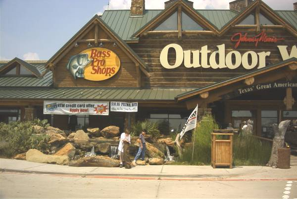 Samuel and Alex at Bass Pro Shops Outdoor World