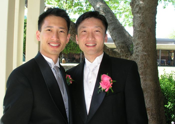Ben and Russ Tong at Russ' wedding