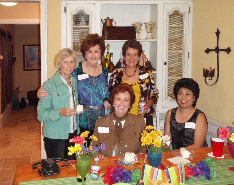 Dot Parten, Jody Riley, Connie Thomas, Pat May, and Angie Harrison