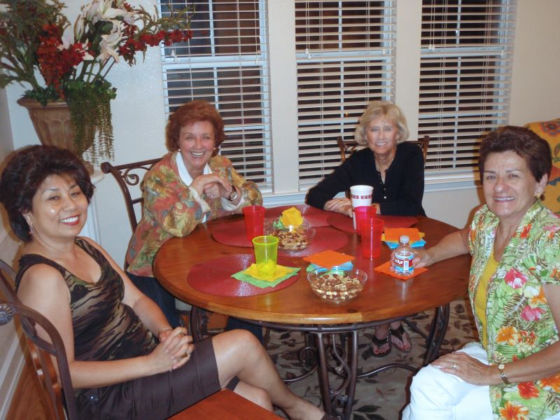 Angie Harrison, Pat , Dot Parton, and Connie Thomas