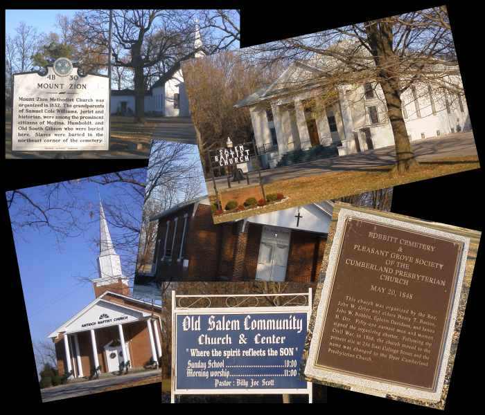 A few of the cemeteries and churches I visited