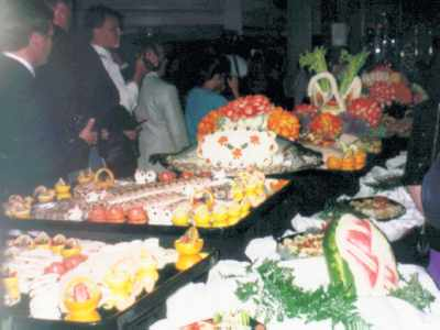 One of the fancy midnight buffets where the chefs showed their stuff