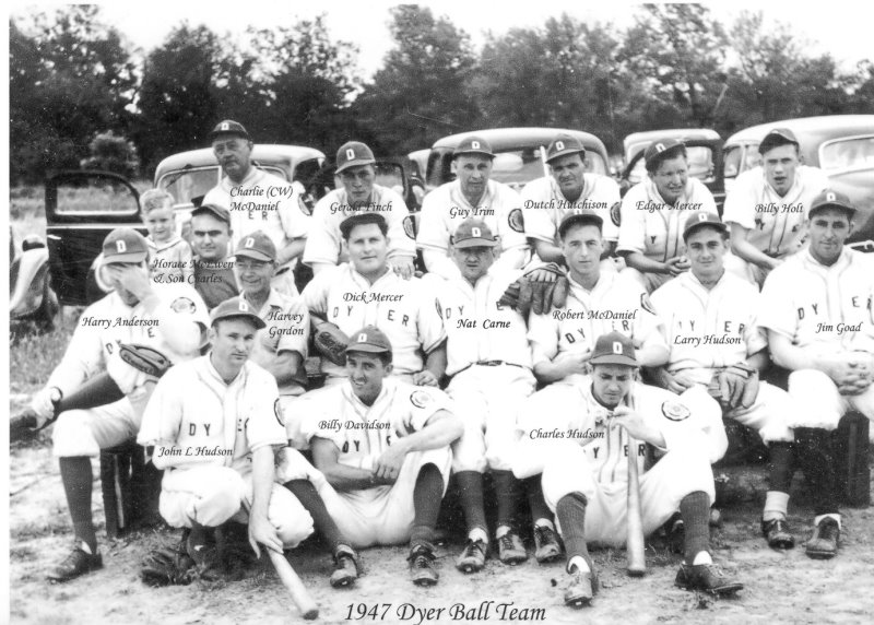1947 Dyer, TN VFW Baseball team