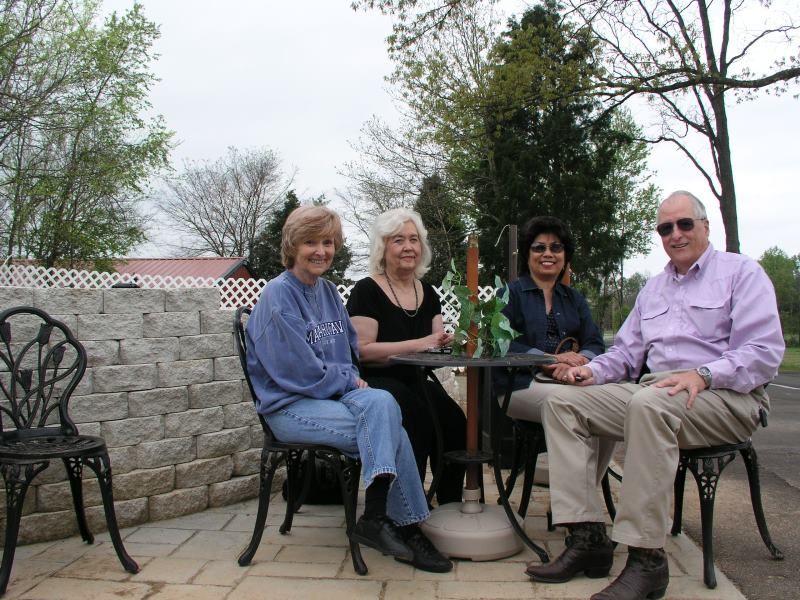 Carol Mannon, Alice McCutceon, Angie and Jim Harrison