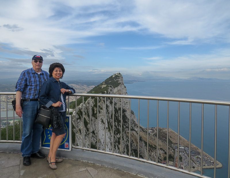 "Angie and I at the ""Rock of Gibraltar"""